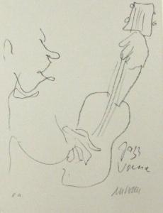 Armin Mueller-Stahl, Grafik Jazz-Venice 4, Foto Klaus Karstedt