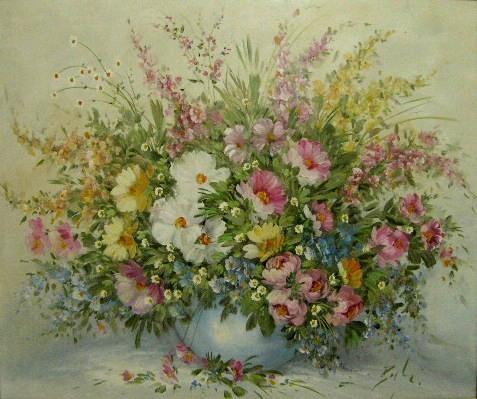 Elke Bagheri, viele rosa Blüten