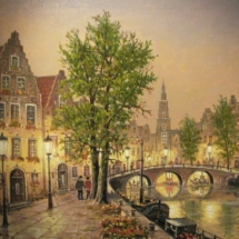 Helmut Kips, Amsterdam am Abend