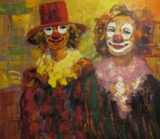Madjid, Zwei Clowns (verkauft)