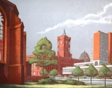 Manfred Pietsch, Klosterruine und Rotes Rathaus Berlin