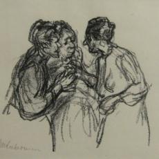 Max Liebermann, Drei Frauen im Gespräch (verkauft)